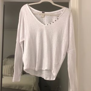 Free people long sleeve white w/ buttons XS NWT